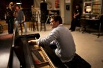 Matthew Morrison on set.